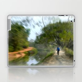 Epic Shot Cycling The Canal Route In Kerala, India Laptop & iPad Skin