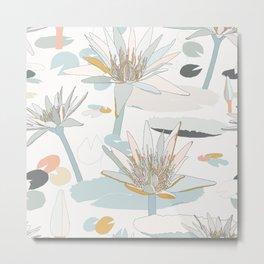 Muted Waterlilies  Metal Print