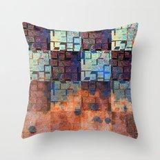 Digital Checkerboard Throw Pillow