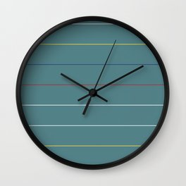 Postmodern Primary Horizon Wall Clock