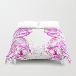 Pink Ink Duvet Cover