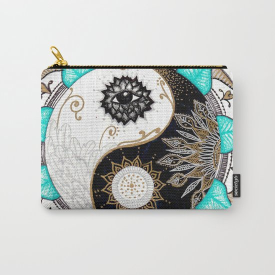 Yin and Yang Mandala Carry-All Pouch