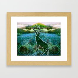 Garden of the Glitch Valley Stag Framed Art Print