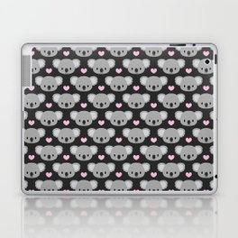 Cute koalas and pink hearts Laptop & iPad Skin