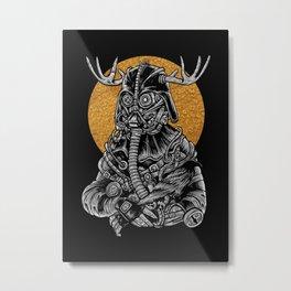 Dark Steampunk Metal Print