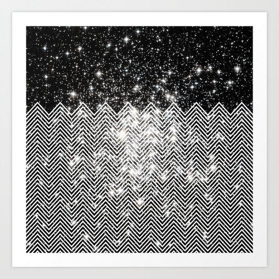 Chevron Universe Art Print
