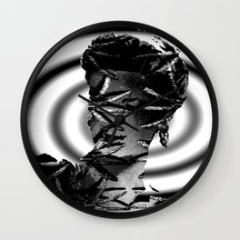 Our Lady of Spiders in Black and White Wall Clock