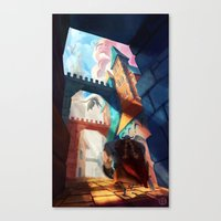 dragons Canvas Prints featuring Dragons by youcoucou
