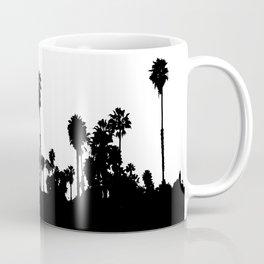 Black & White Palm Trees Reflection Coffee Mug