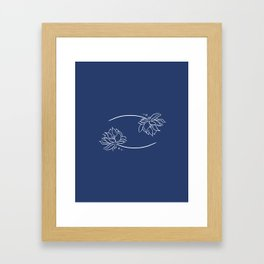 Cancer's Water Lilies Framed Art Print
