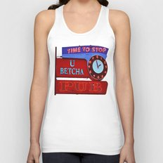 U Betcha Pub sign Unisex Tank Top