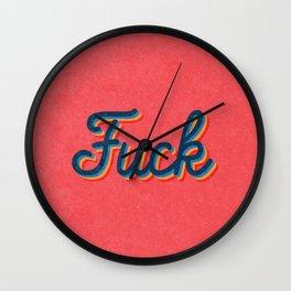 Fuck Wall Clock