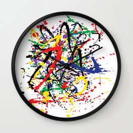 Pollock Remembered by Kathy Morton Stanion Wall Clock