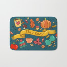 Autumn Is The Time To Stay Cozy Bath Mat