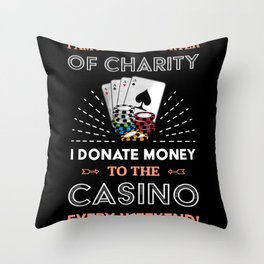 Funny Poker Casino | Gambling Gift Throw Pillow