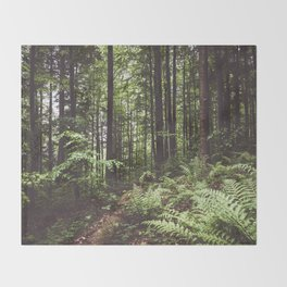 Woodland - Landscape and Nature Photography Throw Blanket