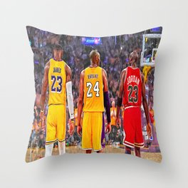Lebron#James, Kobe#Bryant And Michael#Jordan Premium FRAMED Gallery Canvas & Poster Throw Pillow