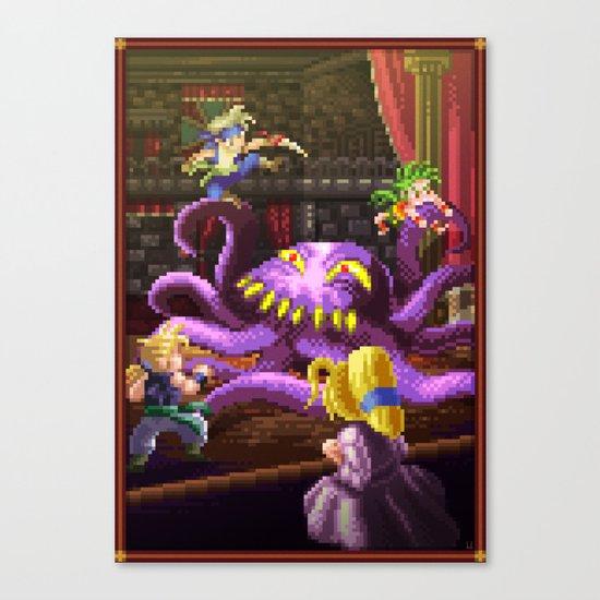 Pixel Art series 3 : Octopus Canvas Print