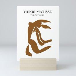 burnt orange abstract nude woman print, abstract woman print, wall art, Abstract Modern Print Mini Art Print