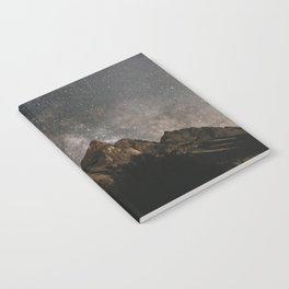 Milky Way Over Mountains - Landscape Photography Notebook