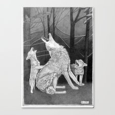 Howling Practice  Canvas Print