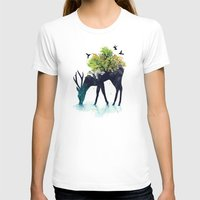 one line T-shirts featuring Watering (A Life Into Itself) by Picomodi