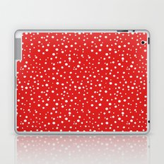 PolkaDots-White on Red Laptop & iPad Skin