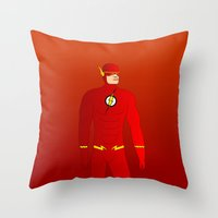 flash Throw Pillows featuring Flash by pablosiano