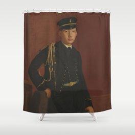 Edgar Degas - Achille De Gas in the Uniform of a cadet Shower Curtain