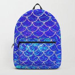 Blue Mermaid Scales Backpack