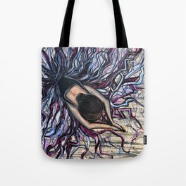 Stretching Ballerina Tote Bag