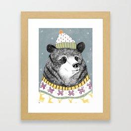 Russian bear Framed Art Print