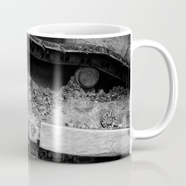 Ivan Caterpillar Track Black and White Coffee Mug