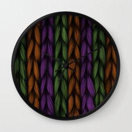 Background weave plait purple Wall Clock