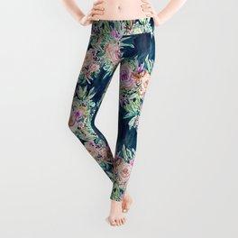 SO RICH Dark Boho Floral Leggings