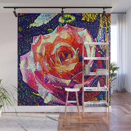 Jeweled Rose Wall Mural
