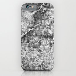 Abstract grey concrete iPhone Case