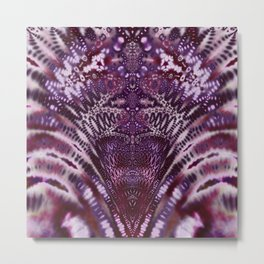 Magenta and Maroon Fractal Wave Metal Print
