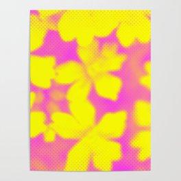 Flower | Flowers | Yellow & Pink Flowers | Nadia Bonello Poster