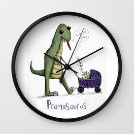 Pramasaurus Wall Clock