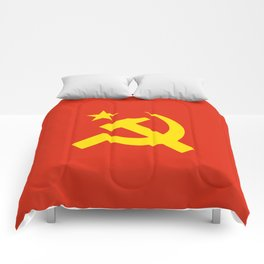 Communist Hammer & Sickle & Star Comforters