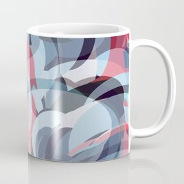 circle fractures blue red Coffee Mug