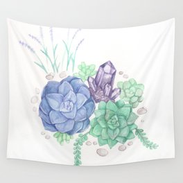 Botanical Succulents Wall Tapestry