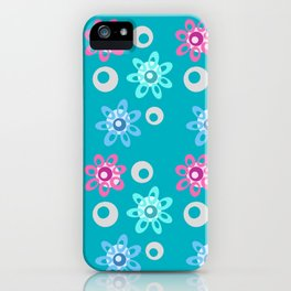 Happy Place in Blue iPhone Case