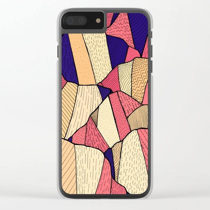 The pattern of hills Clear iPhone Case