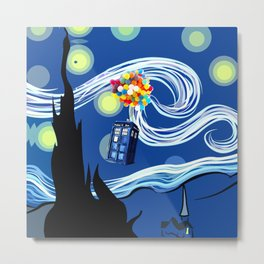 Tardis Balloons Starry Night Metal Print