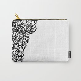 Typographic Vermont Carry-All Pouch