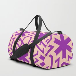 Abstract pink-purple snow pattern Duffle Bag