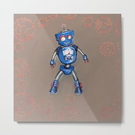 Robot Gauge Metal Print