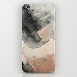 Peace and Quiet [2]: a pretty, minimal abstract piece in gray and peach by Alyssa Hamilton Art iPhone Skin
